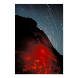 USA, Utah, Arches National Park, Petroglyphs Poster