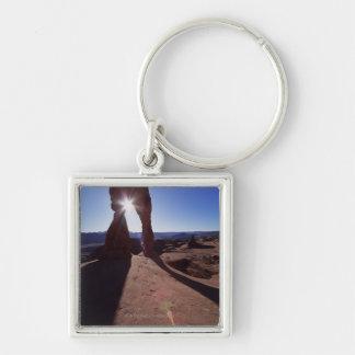 USA, Utah, Arches National Park, sun shining Keychain