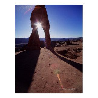 USA, Utah, Arches National Park, sun shining Postcard