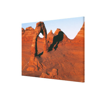 USA, Utah, Arches NP. Delicate Arch is one of Stretched Canvas Prints