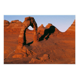 USA, Utah, Arches NP. Delicate Arch is one of Poster