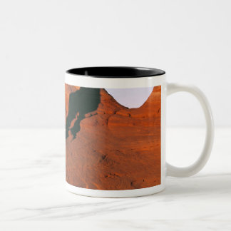 USA, Utah, Arches NP. Delicate Arch is one of Two-Tone Coffee Mug