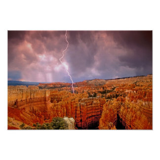 USA, Utah, Bryce Canyon National Park. Poster