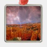 USA, Utah, Bryce Canyon National Park. Square Metal Christmas Ornament