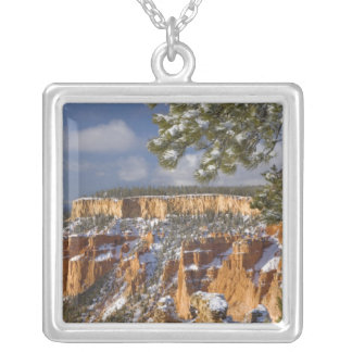 USA, Utah, Bryce Canyon National Park. Sunrise Silver Plated Necklace