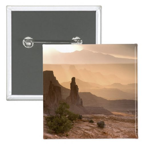 USA; Utah; Canyonlands National Park. View of 2 Inch Square Button