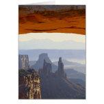 USA, Utah, Canyonlands National Park, View of Greeting Card