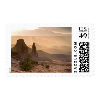 USA; Utah; Canyonlands National Park. View of Postage Stamp