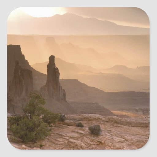 USA; Utah; Canyonlands National Park. View of Square Sticker