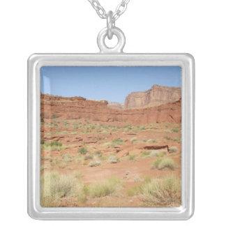USA, Utah, Canyonlands NP, Shafer Canyon Square Pendant Necklace