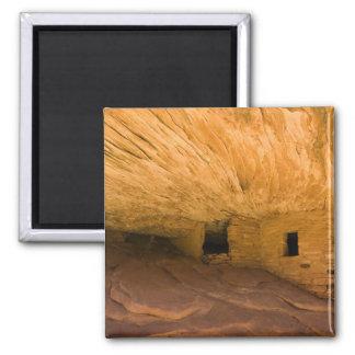 USA, Utah, Cedar Mesa, Mule Canyon. Sandstone 2 Inch Square Magnet