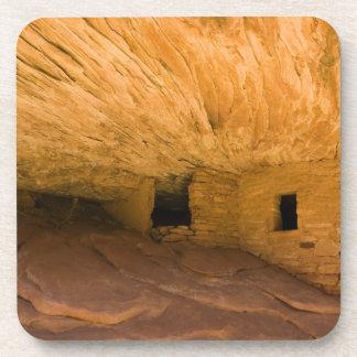USA, Utah, Cedar Mesa, Mule Canyon. Sandstone Beverage Coaster