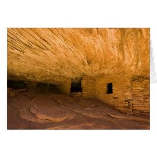 USA, Utah, Cedar Mesa, Mule Canyon. Sandstone Card