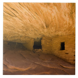 USA, Utah, Cedar Mesa, Mule Canyon. Sandstone Ceramic Tile
