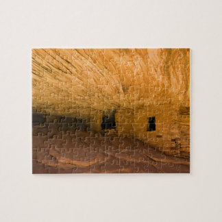 USA, Utah, Cedar Mesa, Mule Canyon. Sandstone Jigsaw Puzzle