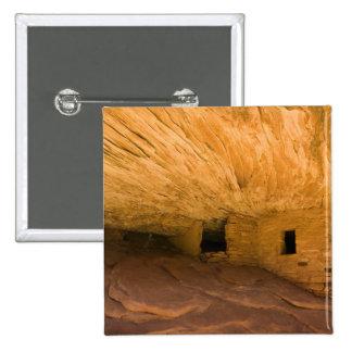 USA, Utah, Cedar Mesa, Mule Canyon. Sandstone Pinback Button