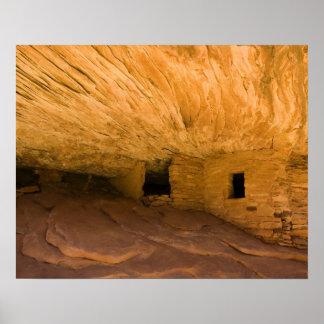 USA, Utah, Cedar Mesa, Mule Canyon. Sandstone Poster