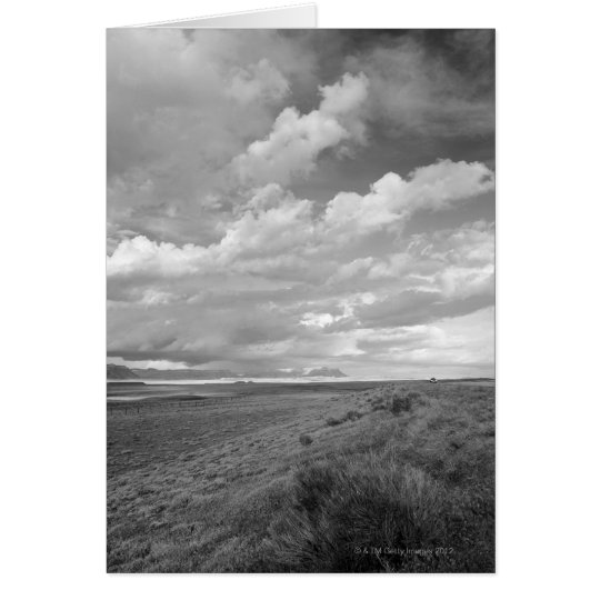 USA, Utah, Clouds over landscape Card