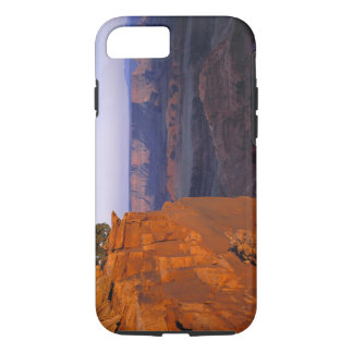 USA, Utah, Dead Horse Point SP. Late light turns iPhone 7 Case