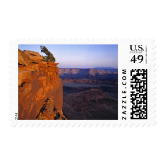 USA, Utah, Dead Horse Point SP. Late light turns Postage Stamps