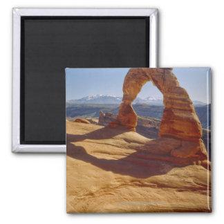 USA, Utah, Delicate Arch 2 Inch Square Magnet