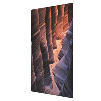 USA, Utah, Escalante. Repeating sandstone Canvas Print