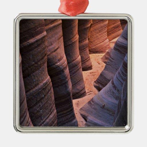 USA, Utah, Escalante. Repeating sandstone Christmas Tree Ornaments