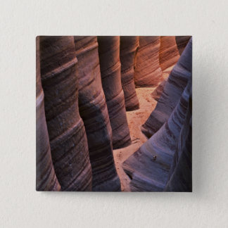 USA, Utah, Escalante. Repeating sandstone Pinback Button