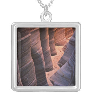 USA, Utah, Escalante. Repeating sandstone Silver Plated Necklace