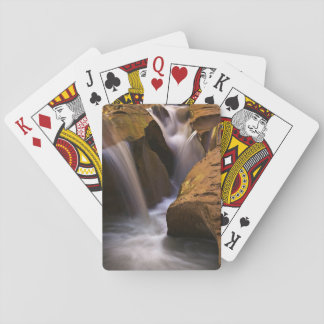 USA, Utah, Escalante Wilderness. Waterfall in 2 Playing Cards