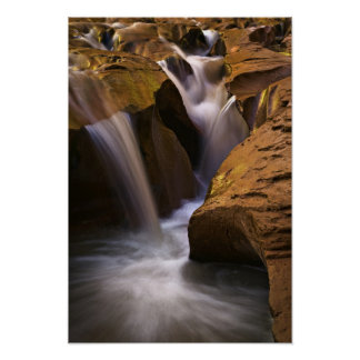 USA, Utah, Escalante Wilderness. Waterfall in 2 Poster