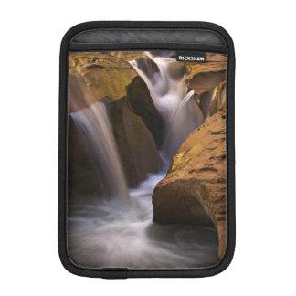 USA, Utah, Escalante Wilderness. Waterfall in 2 Sleeve For iPad Mini