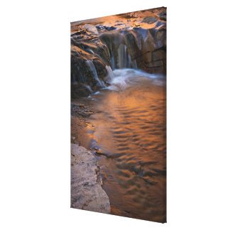 USA, Utah, Escalante Wilderness. Waterfall in Canvas Print