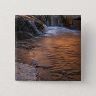 USA, Utah, Escalante Wilderness. Waterfall in Pinback Button