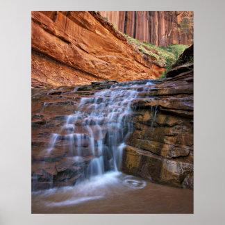 USA, Utah, Escalante Wilderness.  Waterfall in Poster