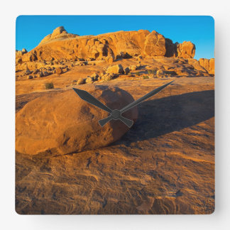 USA, Utah, Moab, Sandstone Square Wall Clock