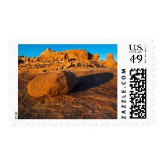 USA, Utah, Moab, Sandstone Stamp