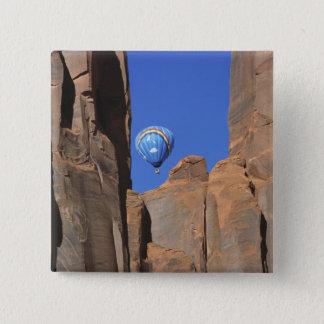 USA, Utah, Monument Valley. A rainbow hot-air Pinback Button