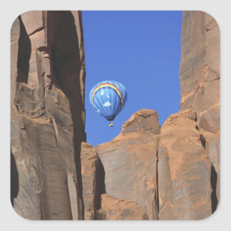 USA, Utah, Monument Valley. A rainbow hot-air Stickers