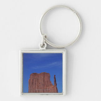 USA, Utah, Monument Valley, National Monument, Silver-Colored Square Keychain