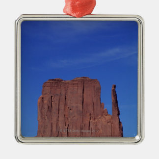 USA, Utah, Monument Valley, National Monument, Square Metal Christmas Ornament