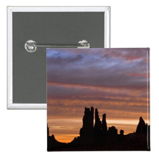 USA, Utah, Monument Valley National Park. 2 2 Inch Square Button