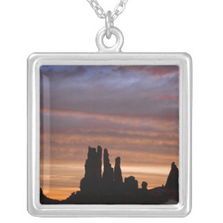 USA, Utah, Monument Valley National Park. 2 Square Pendant Necklace