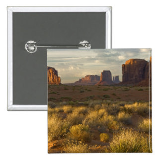 USA, Utah, Monument Valley National Park. Pinback Button