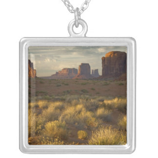 USA, Utah, Monument Valley National Park. Square Pendant Necklace