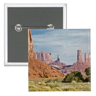 USA, Utah, Monument Valley Navajo Tribal Park. Pinback Button