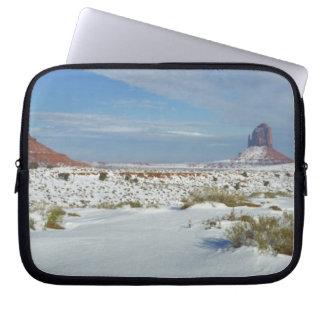 USA, Utah, Monument Valley. Sagebrush shows Laptop Sleeve