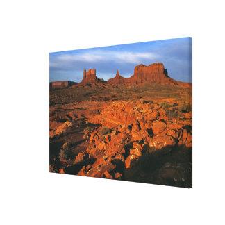 USA, Utah, Monument Valley. Sunset light Canvas Print