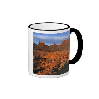 USA, Utah, Monument Valley. Sunset light Ringer Coffee Mug