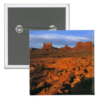 USA, Utah, Monument Valley. Sunset light Pinback Button
